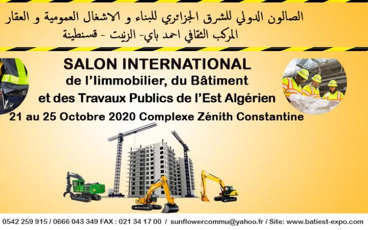 BATI- EST- EXPO    21 au 25 octobre 2020, au Complexe Culturel Ahmed Bey « Zénith »,