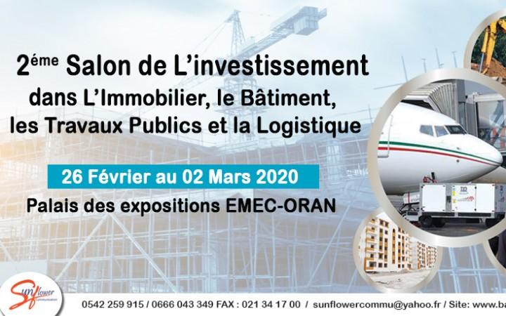IMMO-BTP- INVEST Palais des Expositions d'Oran, du 26 février au 02 mars 2020