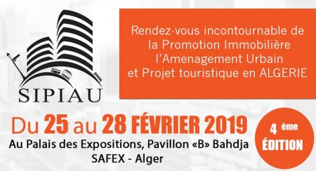 Salon de la Promotion Immobilière, Aménagement Urbain et Projet Touristique du 25 au 28 Février 2019